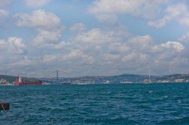 Bosphorus bridge over strait