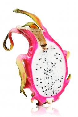 halved dragon fruit