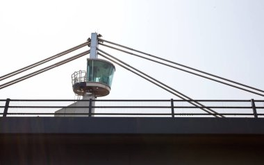 Control tower on bridge