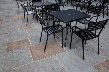 Black Tables and chairs
