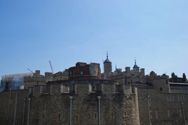 Tower of London against blue sky