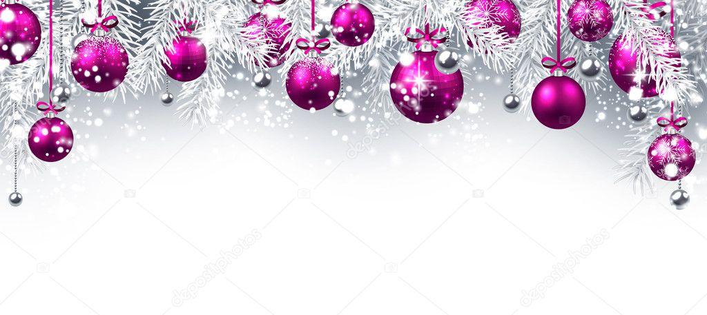 bolas de Navidad color rosa — Vector de stock © Maxborovkov #127166154