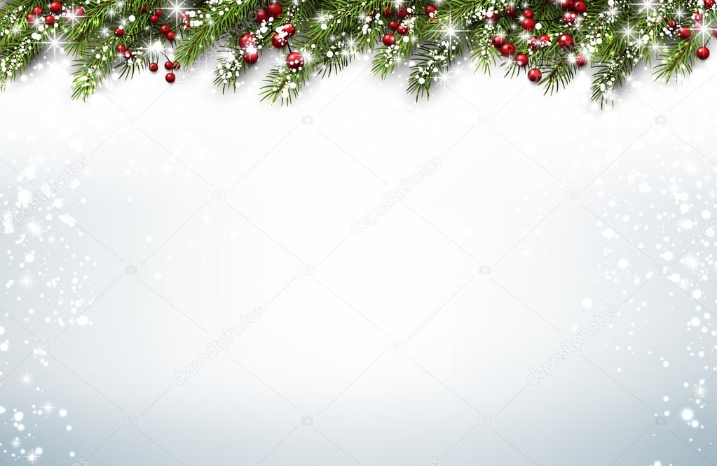 christmas background with fir branches stock vector maxborovkov