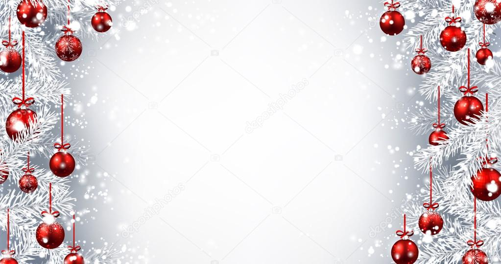 new year background with christmas balls stock vector