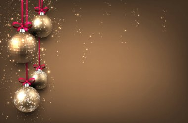New Year background with Christmas balls