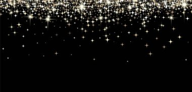 Black shining banner with stars