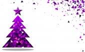 Novoroční přání s vánoční stromeček