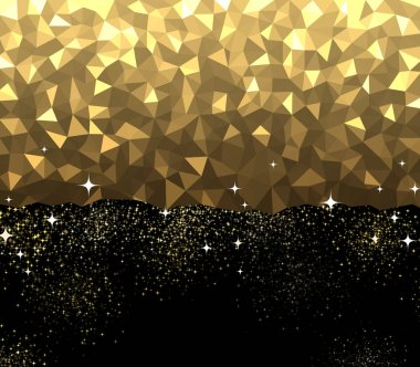 Black and golden sparkling texture