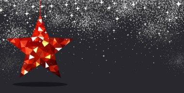 red Christmas star