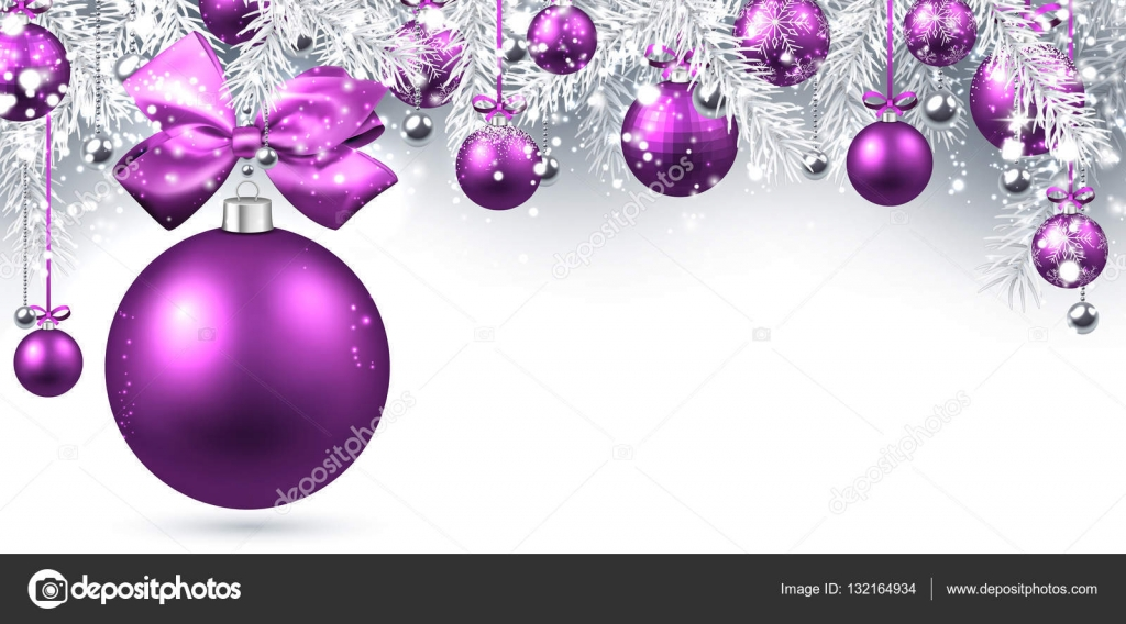 new year banner with christmas balls stock vector
