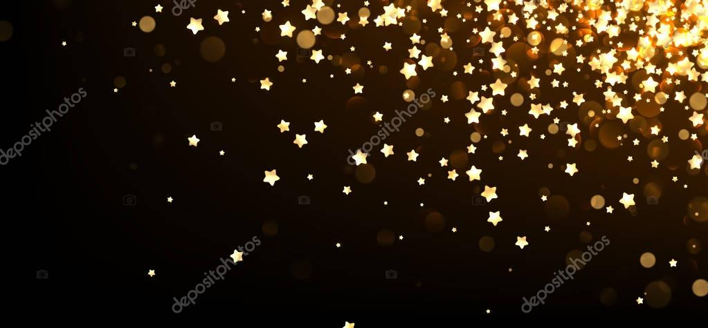 Festive background with yellow stars.