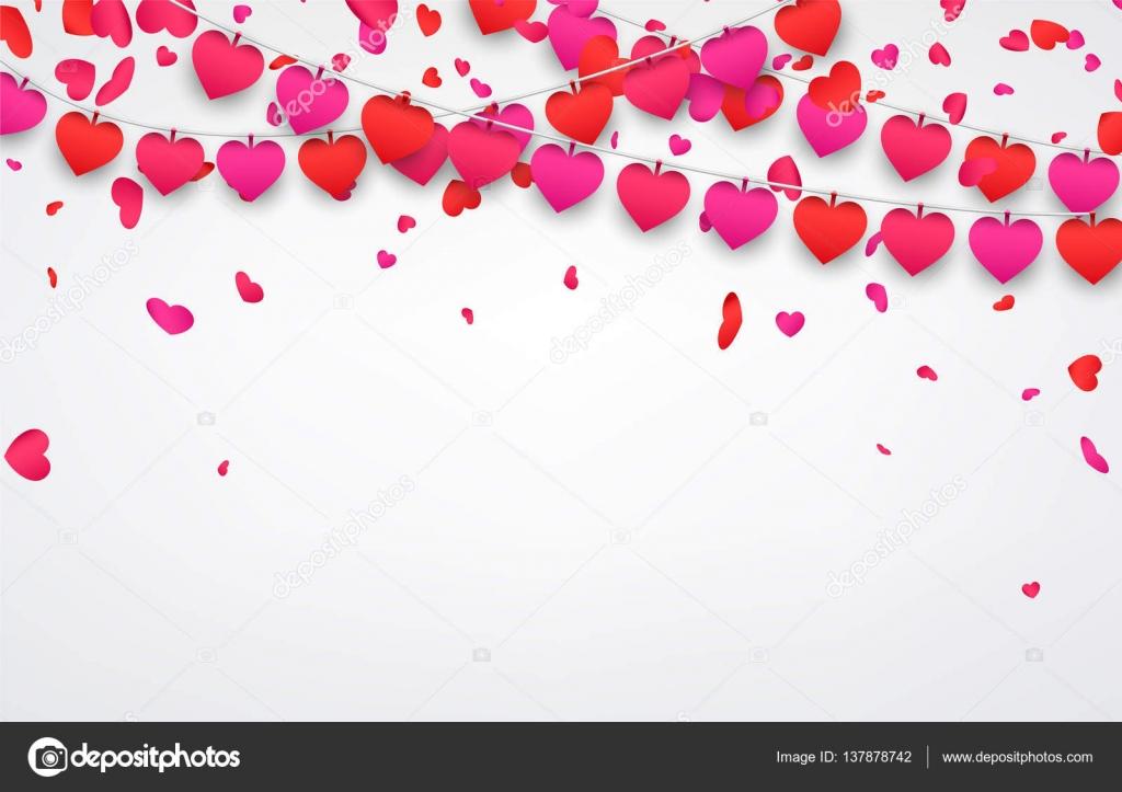 Valentinstag Template mit Herzen — Stockvektor © Maxborovkov #137878742