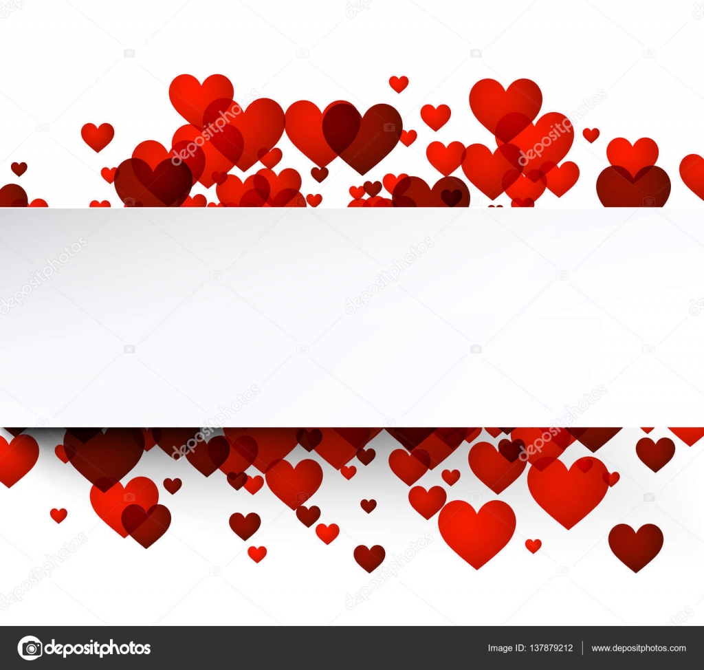 Valentines Day Template With Hearts Stock Vector C Maxborovkov