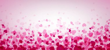 Valentines day template with hearts, vector illustration clip art vector