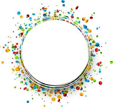 Circle shape confetti template, vector illustration clip art vector