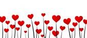 Valentýnský pozadí s červeným srdcem