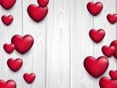 Fotografie Valentinstag Liebe Hintergrund mit Herzen