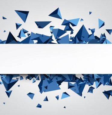 blue trigons background