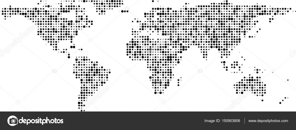 World map of black dots banner stock vector maxborovkov 150903806 communication world map of black dots banner vector illustration vector by maxborovkov gumiabroncs Images