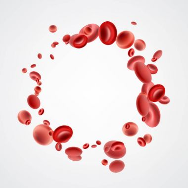 Red 3d streaming blood cells