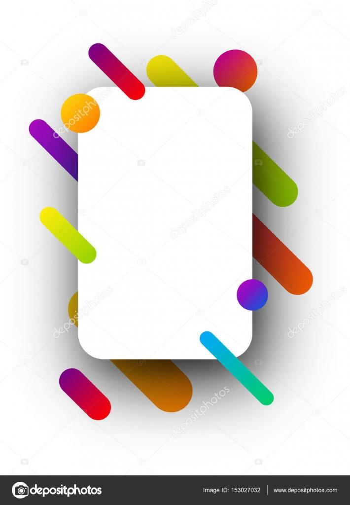 Muster mit weißem Papier und bunte Streifen — Stockvektor ...