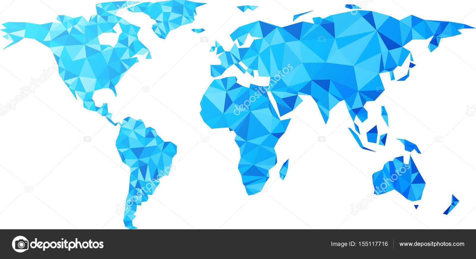 Blue geometric world map stock vector maxborovkov 155117716 blue geometric abstract world map vector paper illustration vector by maxborovkov gumiabroncs Image collections