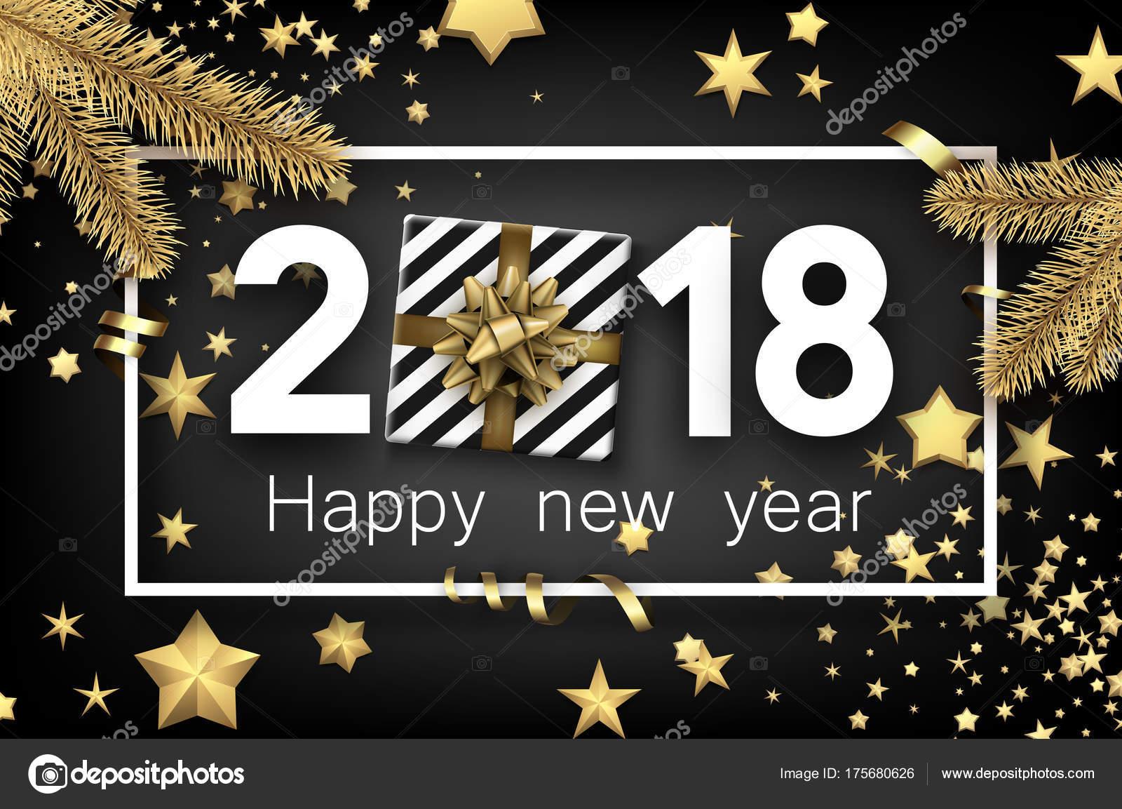 Vector Deportes Bolas Patrón De Fondo: Fondo De Vector De Feliz Año Nuevo 2018 Con El Patrón De
