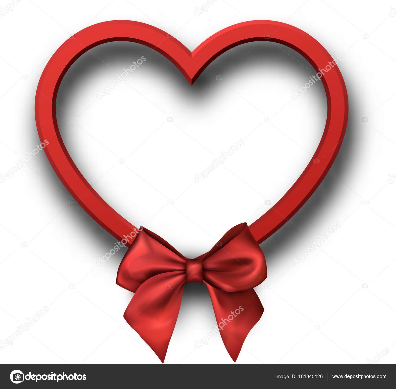 Roten Valentines Herz Form Vorlage — Stockvektor © Maxborovkov ...