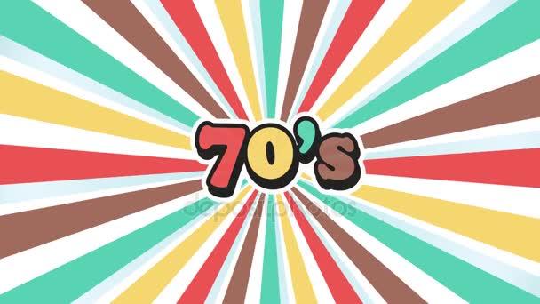 Staré školy 70s Vintage Motion grafiky pozadí