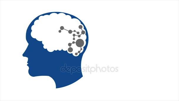 Emberek agy hálózati kapcsolat, a memória javítására, a kreativitás. 1080 Hd-Motion Graphics