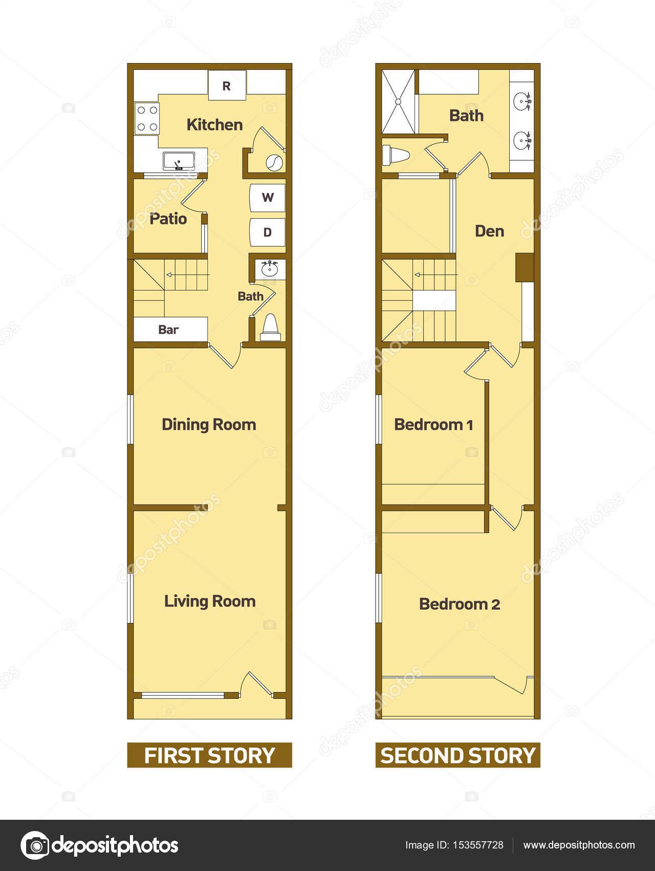Architektur Grundrisse Modernes Haus U2014 Stockvektor