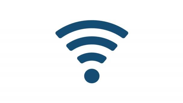 Symbol bezdrátové sítě Wifi, samostatný Video animace