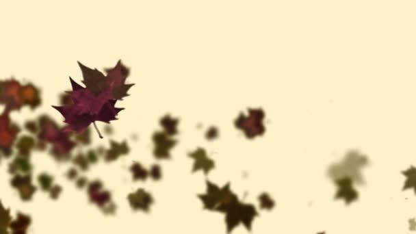 Podzimní listí javor na rozostřeného pozadí. Krajina v podzimní sezóně