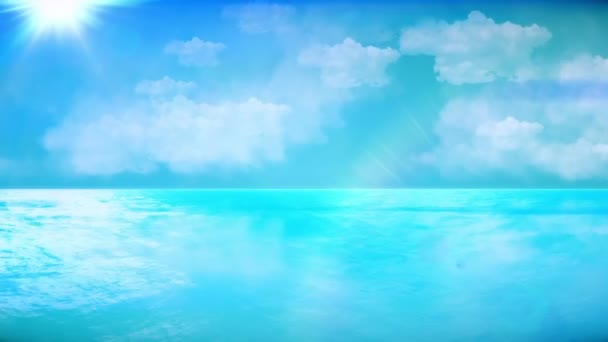 Perfect seascape. Great for tourism and nature concept. Check out my other seascape and underwater animations