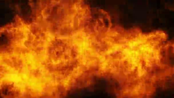 Masivní exploze s černým kouřem. Podívejte se na můj oheň pozadí