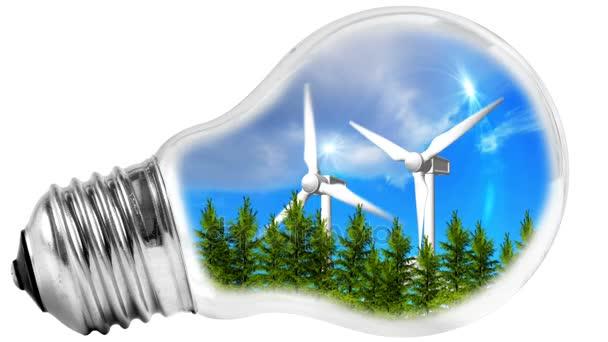 Concetto di energia rinnovabile verde