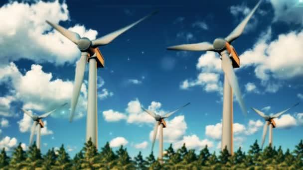 concetto di energia rinnovabile - generatore eolico nel cielo