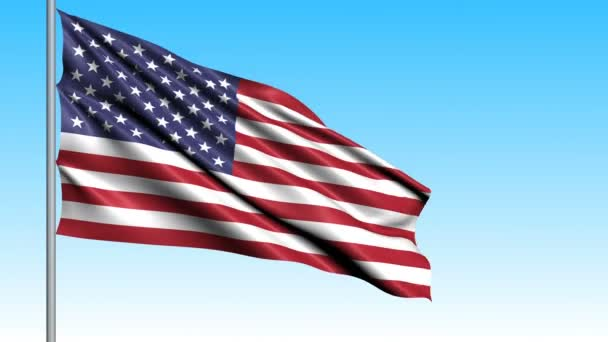 Beautiful flag of the USA waving in the wind