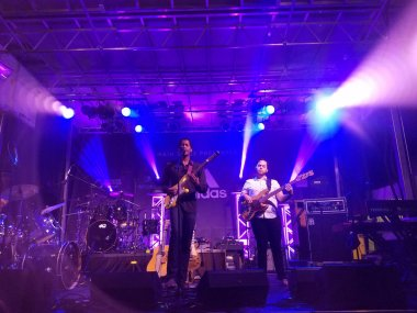 Ron Artis II & The Truth performs on stage during night concert