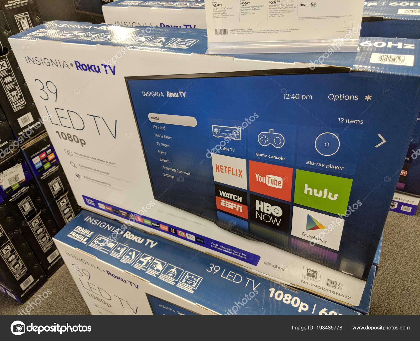 Insignia Roku TV for sale at Best Buy – Stock Editorial