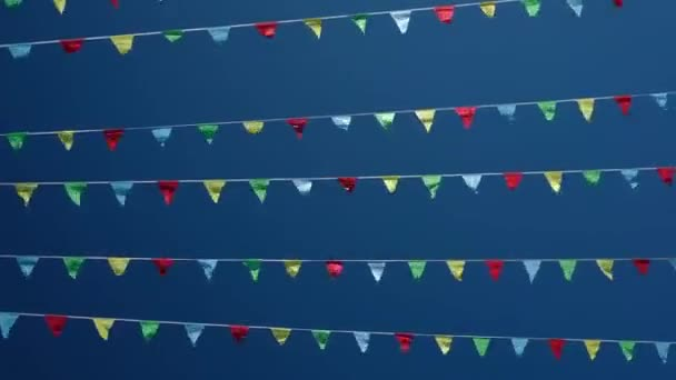 Small triangular waving flags