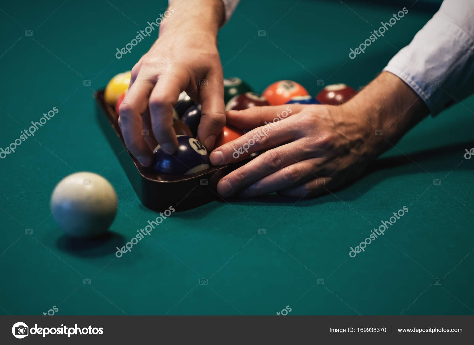 Playing Billiard Billiards Balls On Green Billiards Table - How to put a pool table together