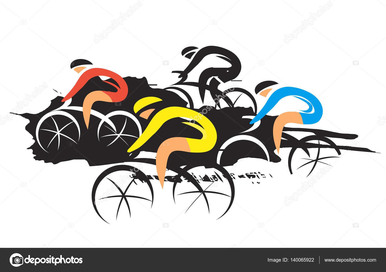 Course cycliste sur route image vectorielle chachar - Cycliste dessin ...