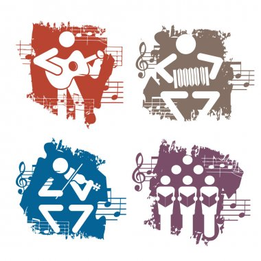 Musicians grunge icons.