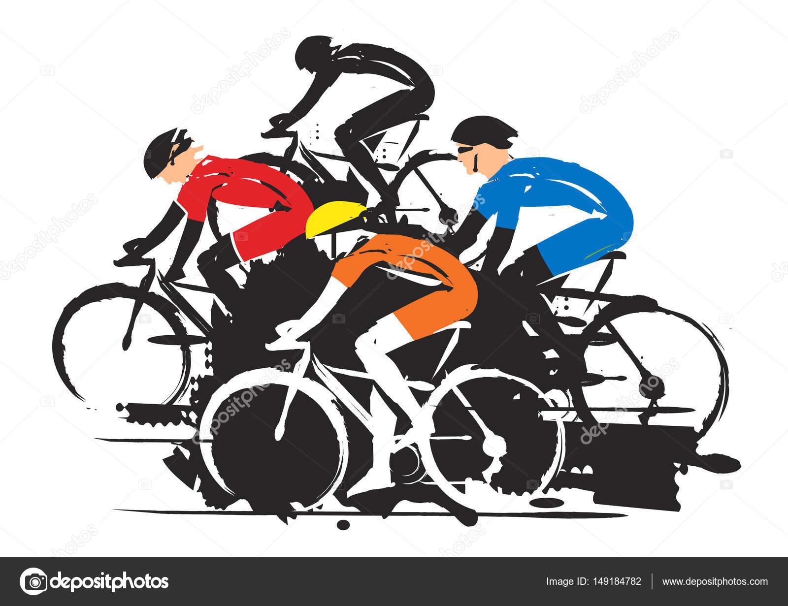 corrida de ciclismo de estrada vetor de stock chachar 149184782