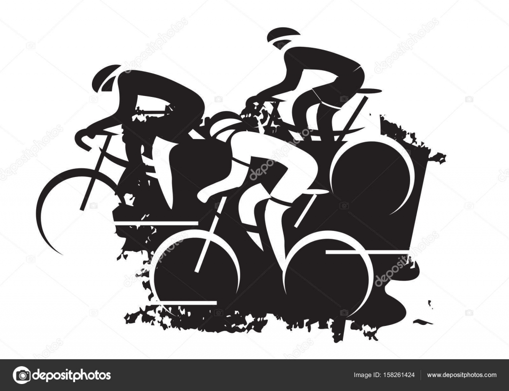 corrida de ciclismo de estrada vetor de stock chachar 158261424