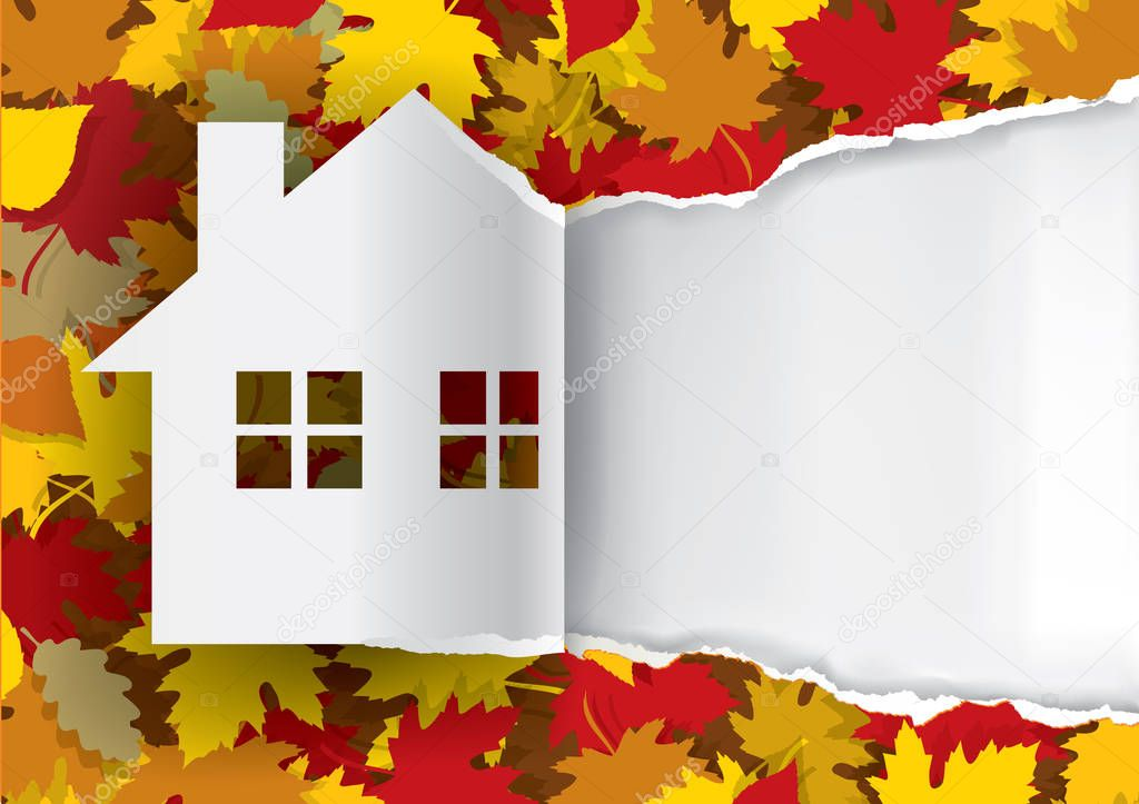 Autumn House paper background.