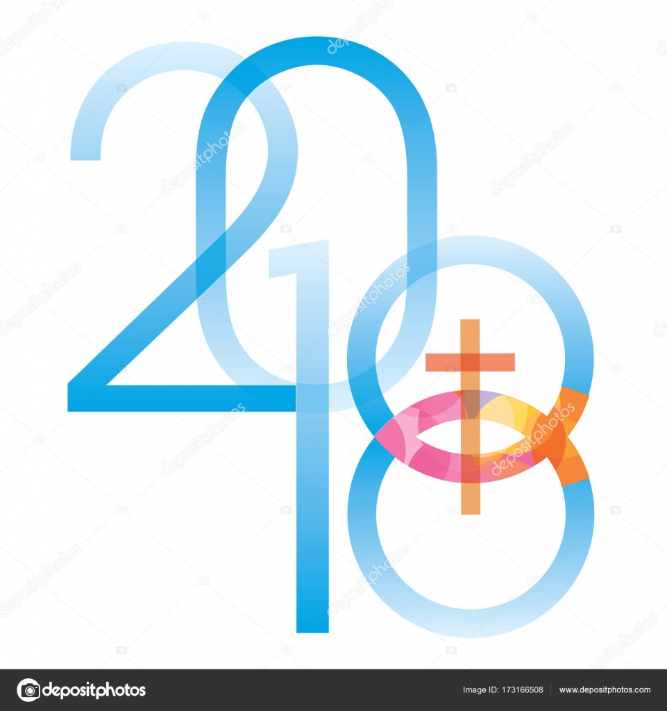 Jesus Fish Symbol New Year 2018 Stock Vector Chachar 173166508