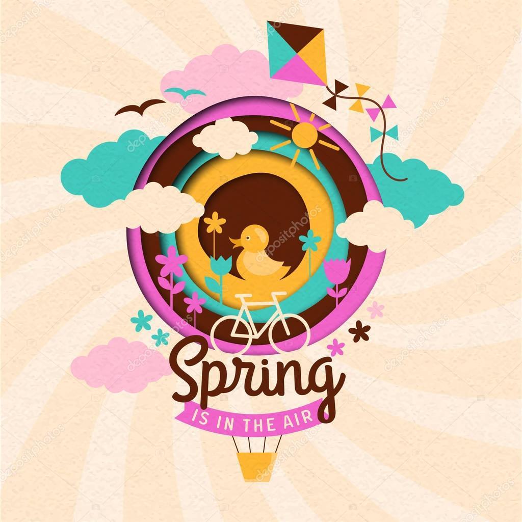 Spring paper illustration