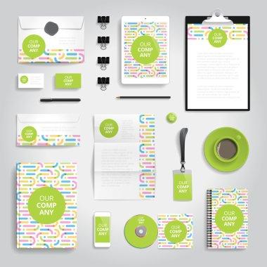 Corporate identity print template